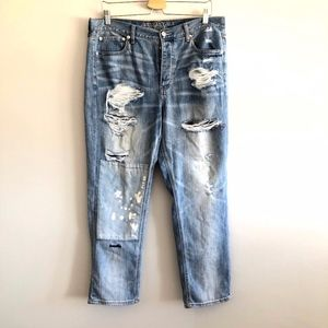 American Eagle Vintage Hi Rise Patch Ripped Jeans